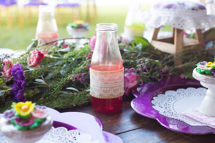 Drink Bottle from a Little Miss Muffet Birthday Party on Kara's Party Ideas | KarasPartyIdeas.com (25)