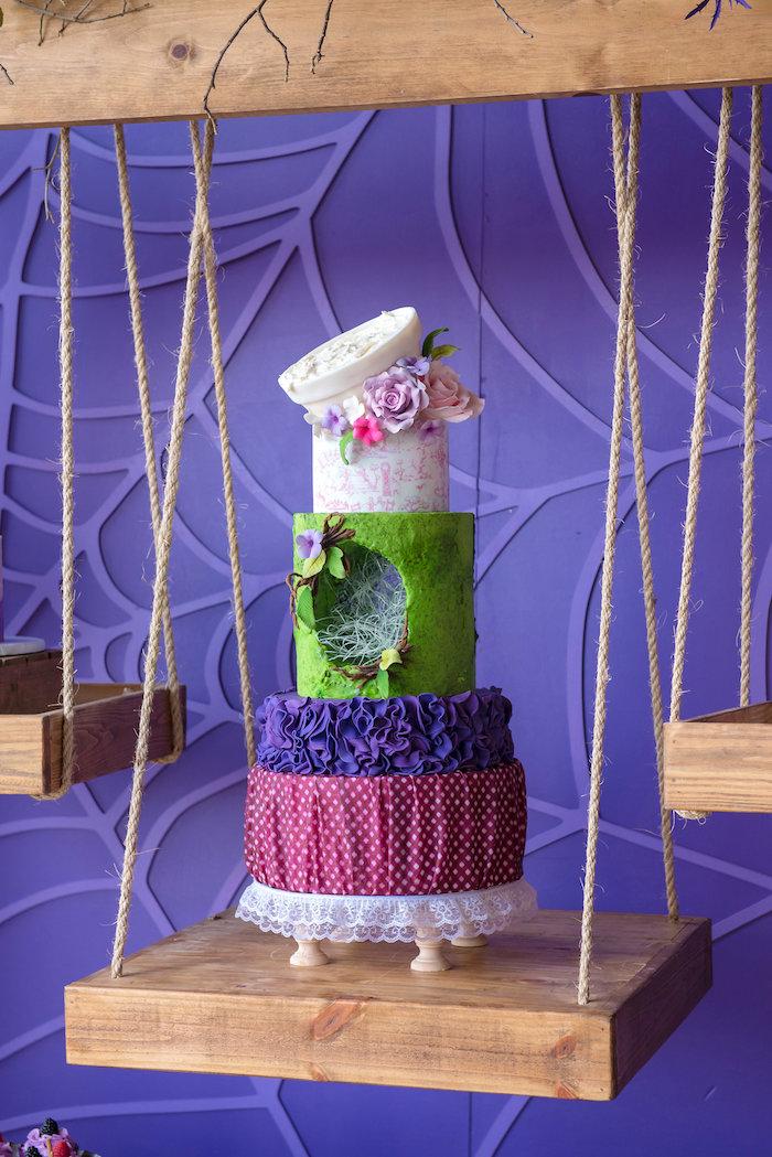 Little Miss Muffet Cake from a Little Miss Muffet Birthday Party on Kara's Party Ideas | KarasPartyIdeas.com (16)
