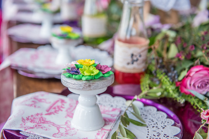 Tuffet Flower Cookie from a Little Miss Muffet Birthday Party on Kara's Party Ideas | KarasPartyIdeas.com (11)