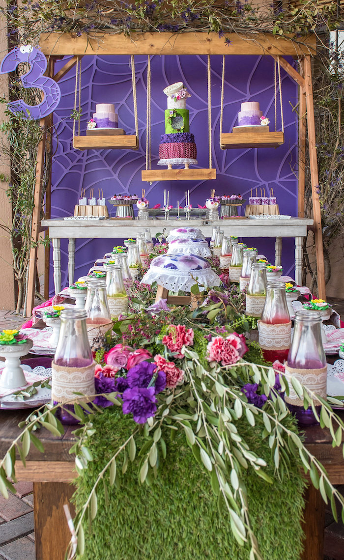 Garden Guest Tablescape from a Little Miss Muffet Birthday Party on Kara's Party Ideas | KarasPartyIdeas.com (10)