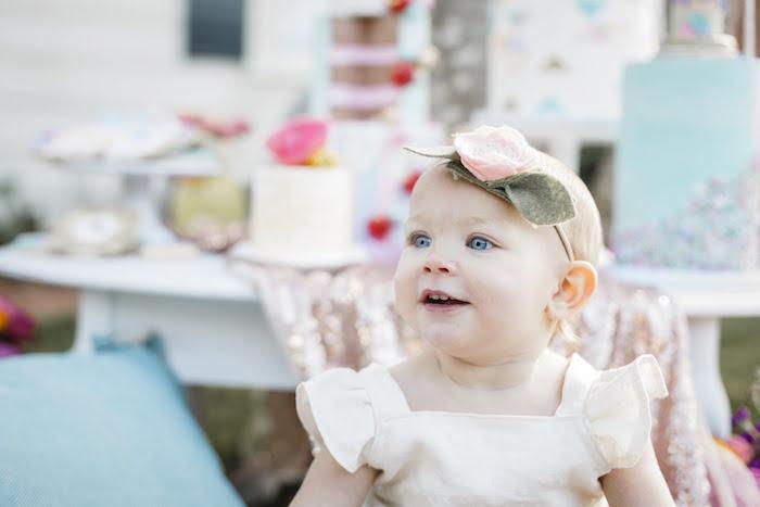 """Let Her Eat Cake"" 1st Birthday Party on Kara's Party Ideas | KarasPartyIdeas.com (12)"