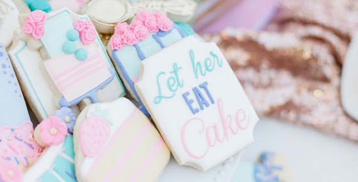 """Let Her Eat Cake"" 1st Birthday Party on Kara's Party Ideas 