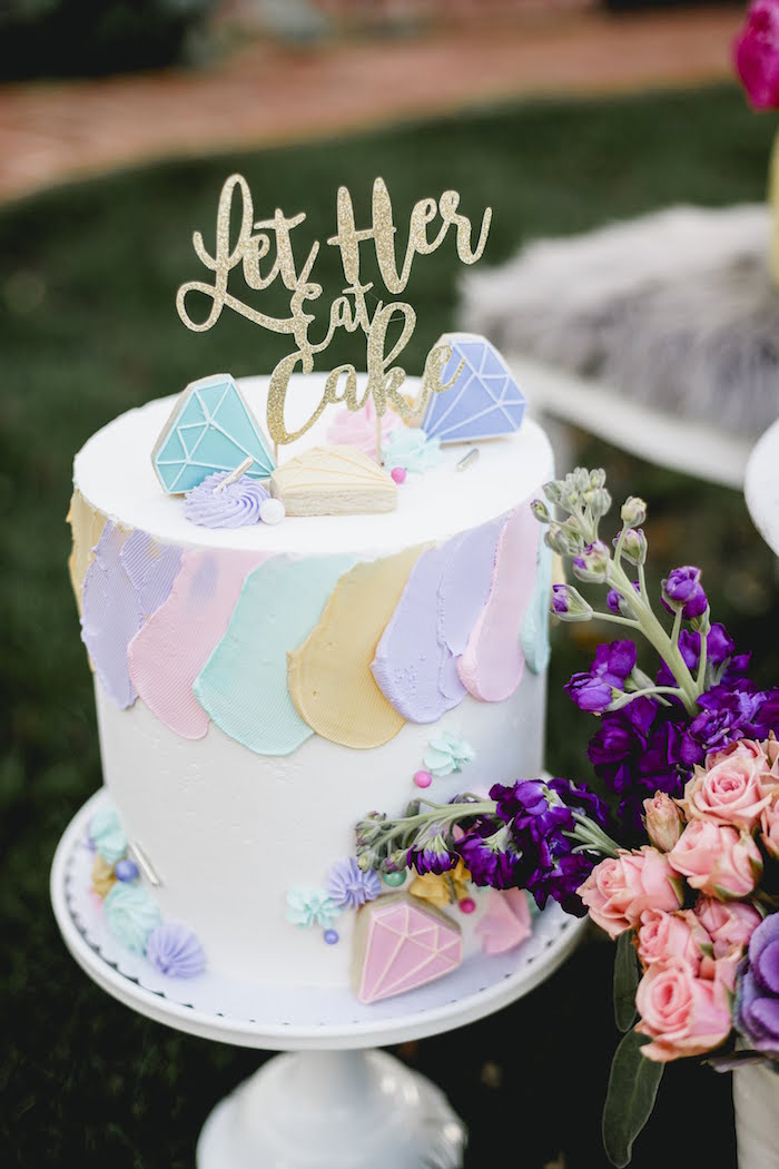 """Jewel Cake from a """"Let Her Eat Cake"""" 1st Birthday Party on Kara's Party Ideas 
