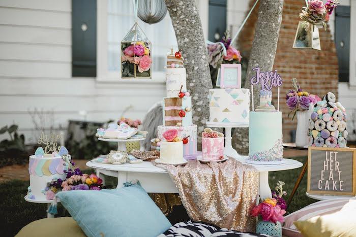"""Let Her Eat Cake"" 1st Birthday Party on Kara's Party Ideas | KarasPartyIdeas.com (20)"