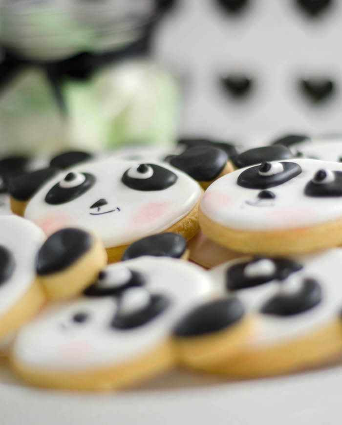 "Panda Bear Cookies from a ""Party Like a Panda"" Birthday Party on Kara's Party Ideas   KarasPartyIdeas.com (20)"
