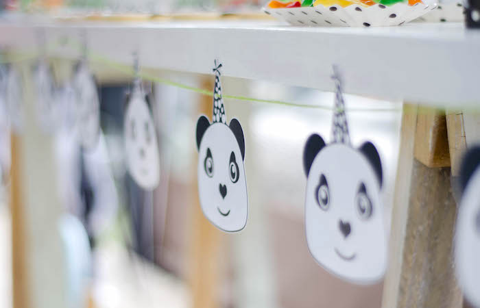 "Panda Bear Banner from a ""Party Like a Panda"" Birthday Party on Kara's Party Ideas   KarasPartyIdeas.com (14)"