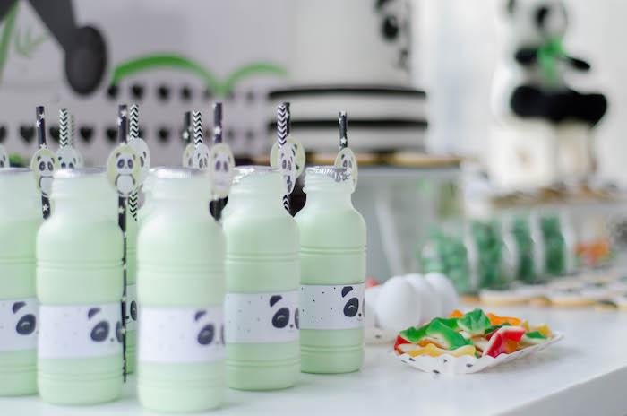 "Panda Bear Drink Bottles from a ""Party Like a Panda"" Birthday Party on Kara's Party Ideas   KarasPartyIdeas.com (13)"