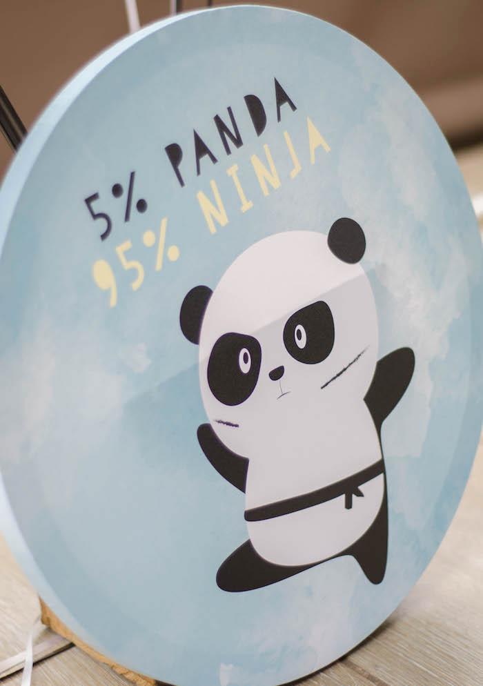 """Panda Bear Ninja Sign from a """"Party Like a Panda"""" Birthday Party on Kara's Party Ideas   KarasPartyIdeas.com (11)"""