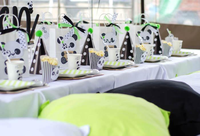 "Panda Bear Guest Tablescape from a ""Party Like a Panda"" Birthday Party on Kara's Party Ideas   KarasPartyIdeas.com (10)"