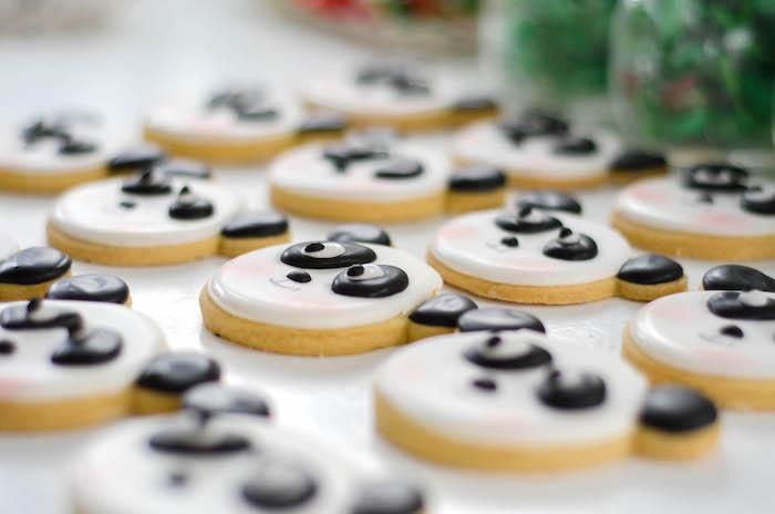 "Panda Bear Sugar Cookies from a ""Party Like a Panda"" Birthday Party on Kara's Party Ideas   KarasPartyIdeas.com (9)"