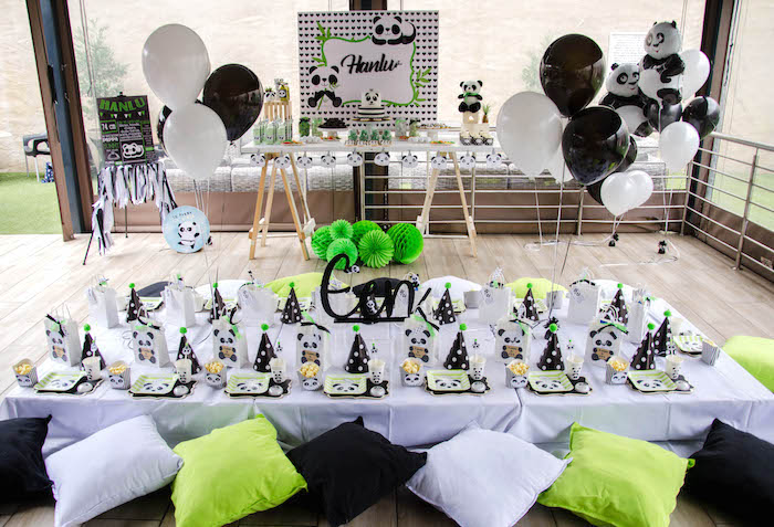 """Panda Themed Guest Table from a """"Party Like a Panda"""" Birthday Party on Kara's Party Ideas   KarasPartyIdeas.com (8)"""