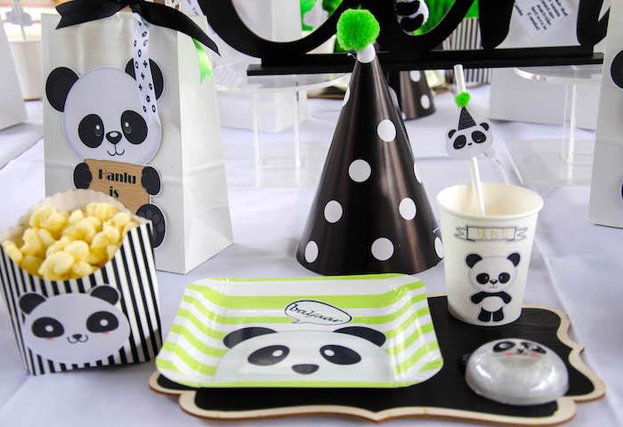 "Panda Party Table Setting from a ""Party Like a Panda"" Birthday Party on Kara's Party Ideas   KarasPartyIdeas.com (7)"