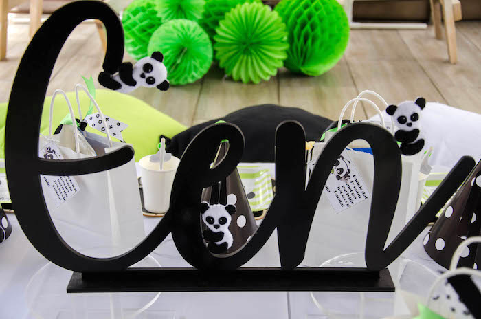 """Signage from a """"Party Like a Panda"""" Birthday Party on Kara's Party Ideas   KarasPartyIdeas.com (6)"""