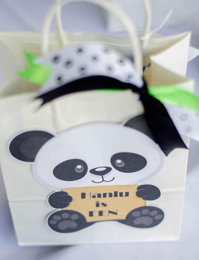 "Panda Bear Favor Bag from a ""Party Like a Panda"" Birthday Party on Kara's Party Ideas   KarasPartyIdeas.com (26)"