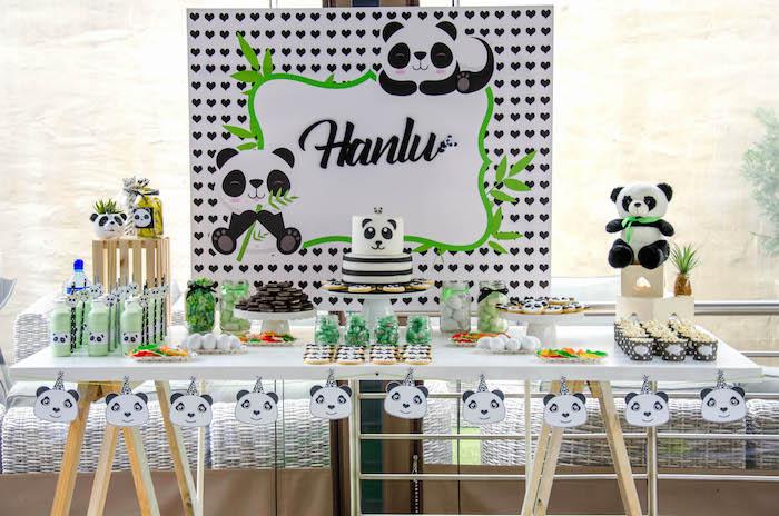 "Panda Bear Dessert Table from a ""Party Like a Panda"" Birthday Party on Kara's Party Ideas   KarasPartyIdeas.com (22)"