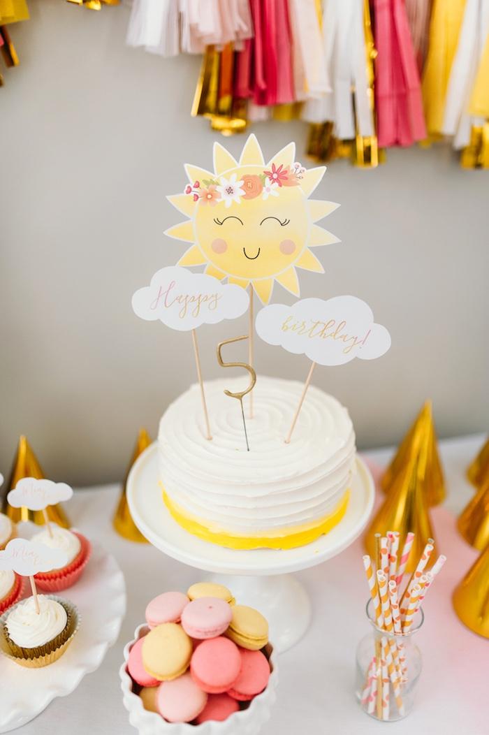 "Lemon Sunshine Cake from ""You Are My Sunshine"" Birthday Party on Kara's Party Ideas | KarasPartyIdeas.com (8)"