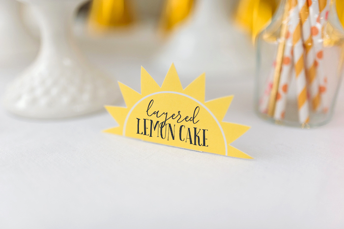 """Sunshine Sweet Label from """"You Are My Sunshine"""" Birthday Party on Kara's Party Ideas 