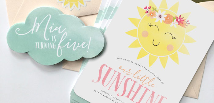 """You Are My Sunshine"" Birthday Party on Kara's Party Ideas 