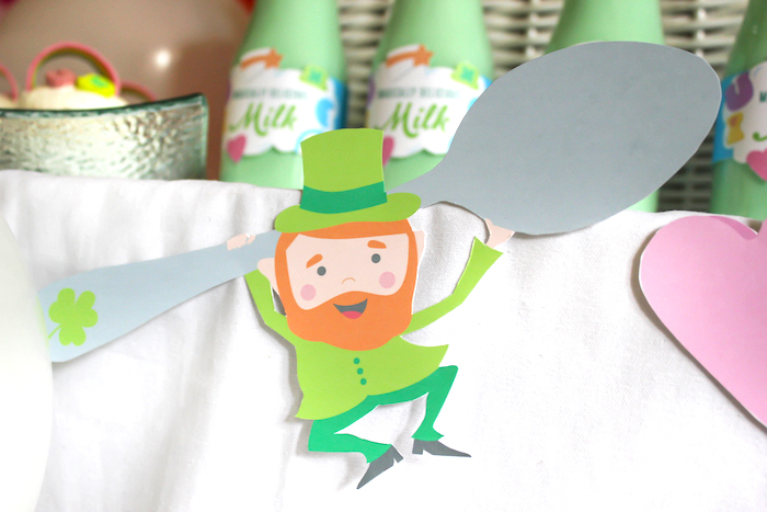 "Lucky Charms Leprechaun from a ""You're My Lucky Charm"" St. Patrick's Day Party on Kara's Party Ideas 