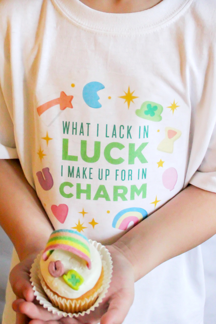 """Lucky Charms St. Patrick's Day Shirt from a St. Patrick's Day Shirt from a""""You're My Lucky Charm"""" St. Patrick's Day Party on Kara's Party Ideas 