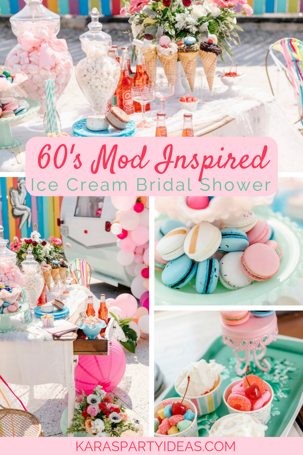 60's Mod Inspired Ice Cream Bridal Shower via KarasPartyIdeas - KarasPartyIdeas.com
