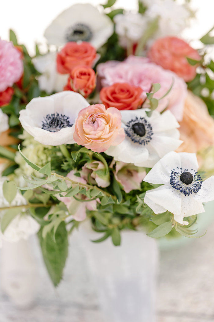 Blooms from a 60's Mod Inspired Ice Cream Bridal Shower on Kara's Party Ideas | KarasPartyIdeas.com (20)