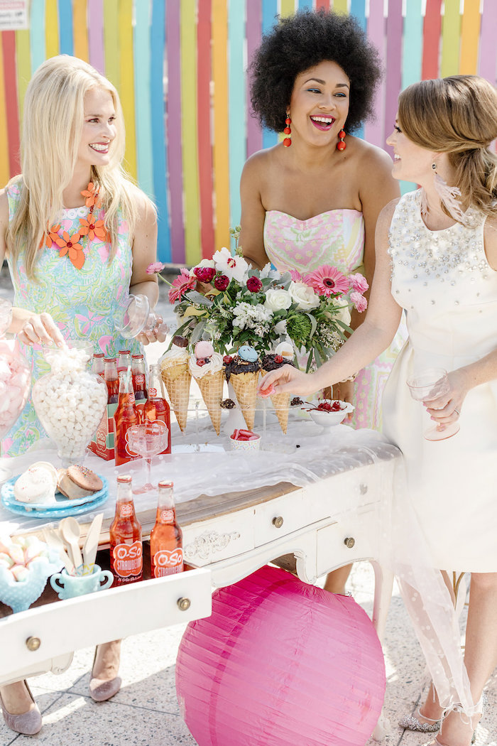 60's Mod Inspired Ice Cream Bridal Shower on Kara's Party Ideas | KarasPartyIdeas.com (10)