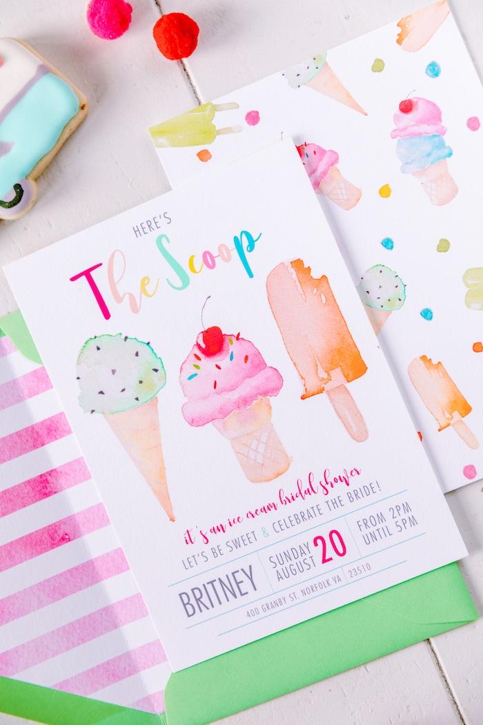 Kara\'s Party Ideas 60\'s Mod Inspired Ice Cream Bridal Shower ...