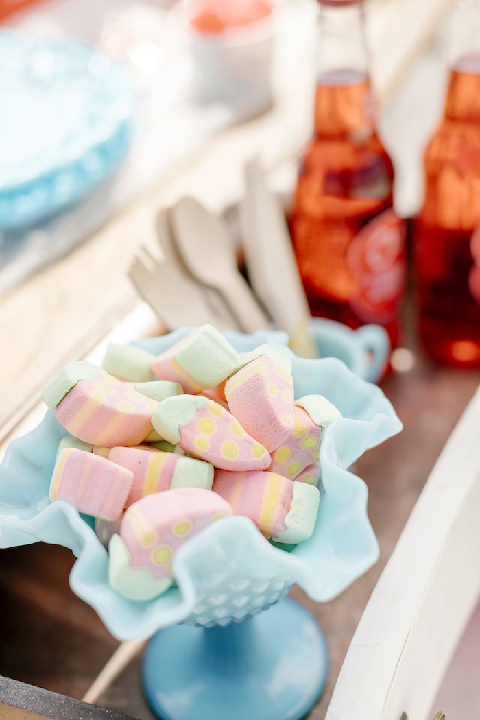 Gummies from a 60's Mod Inspired Ice Cream Bridal Shower on Kara's Party Ideas | KarasPartyIdeas.com (34)