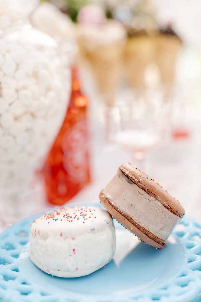 Ice Cream Sandwiches from a 60's Mod Inspired Ice Cream Bridal Shower on Kara's Party Ideas | KarasPartyIdeas.com (27)