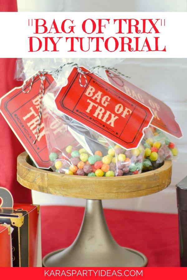Bag of Trix Magic Party Favor DIY Tutoial via Kara's Party Ideas - KarasPartyIdeas.com