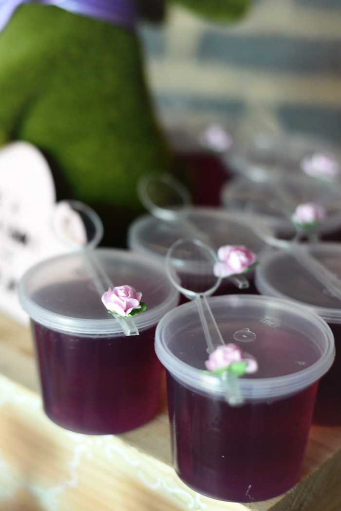 Woodland Jello Cups from a Bambi + Girly Woodland Birthday Party on Kara's Party Ideas | KarasPartyIdeas.com (17)