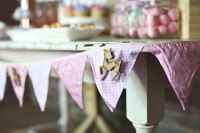 Banner from a Bambi + Girly Woodland Birthday Party on Kara's Party Ideas | KarasPartyIdeas.com (16)