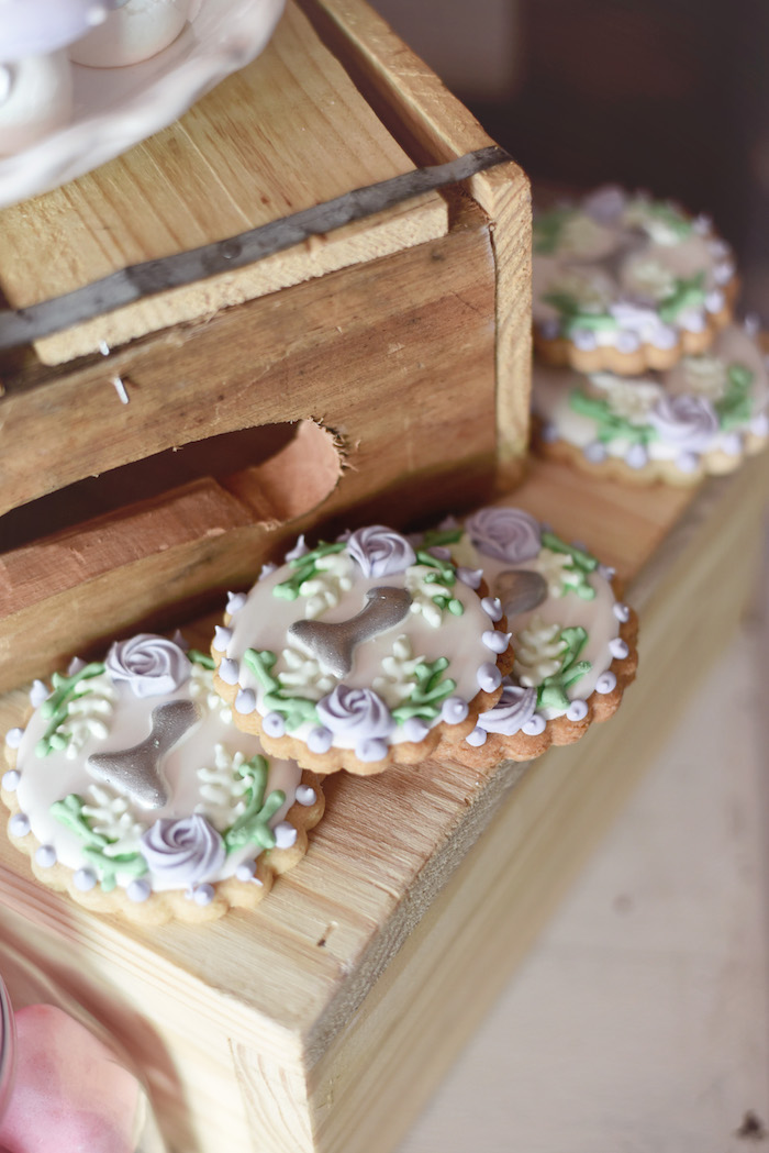 Cookies from a Bambi + Girly Woodland Birthday Party on Kara's Party Ideas | KarasPartyIdeas.com (15)