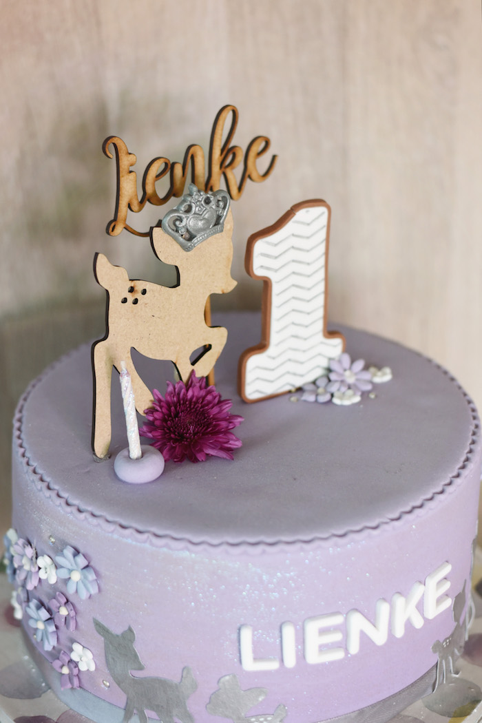 Cake from a Bambi + Girly Woodland Birthday Party on Kara's Party Ideas | KarasPartyIdeas.com (12)