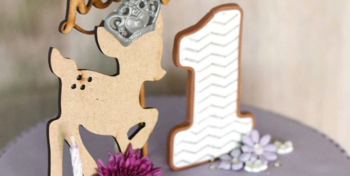 Bambi + Girly Woodland Birthday Party on Kara's Party Ideas | KarasPartyIdeas.com (3)