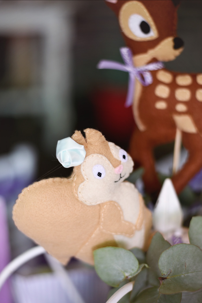 Felt Chipmunk from a Bambi + Girly Woodland Birthday Party on Kara's Party Ideas | KarasPartyIdeas.com (26)