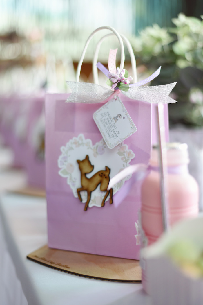 Deer Favor Sack from a Bambi + Girly Woodland Birthday Party on Kara's Party Ideas | KarasPartyIdeas.com (25)
