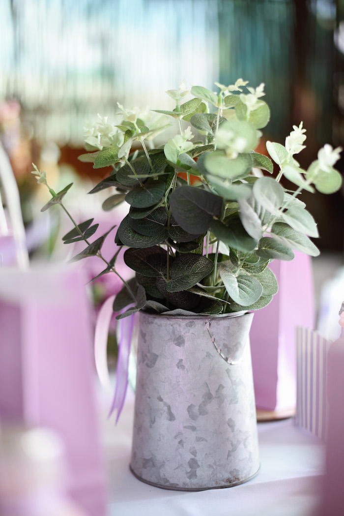 Garden Centerpiece from a Bambi + Girly Woodland Birthday Party on Kara's Party Ideas | KarasPartyIdeas.com (23)
