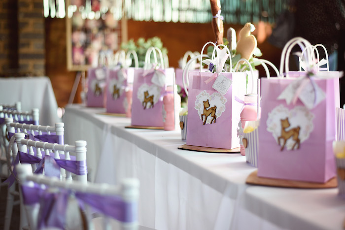 Guest Table from a Bambi + Girly Woodland Birthday Party on Kara's Party Ideas | KarasPartyIdeas.com (22)