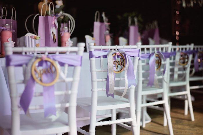 Guest Table from a Bambi + Girly Woodland Birthday Party on Kara's Party Ideas | KarasPartyIdeas.com (20)