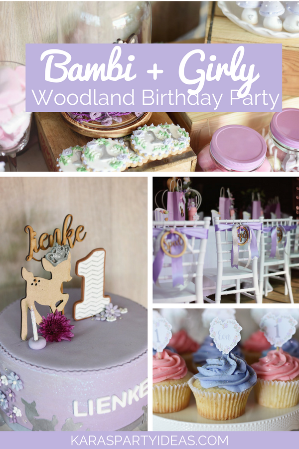Bambi + Girly Woodland Birthday Party via Kara's Party Ideas - KarasPartyIdeas.com