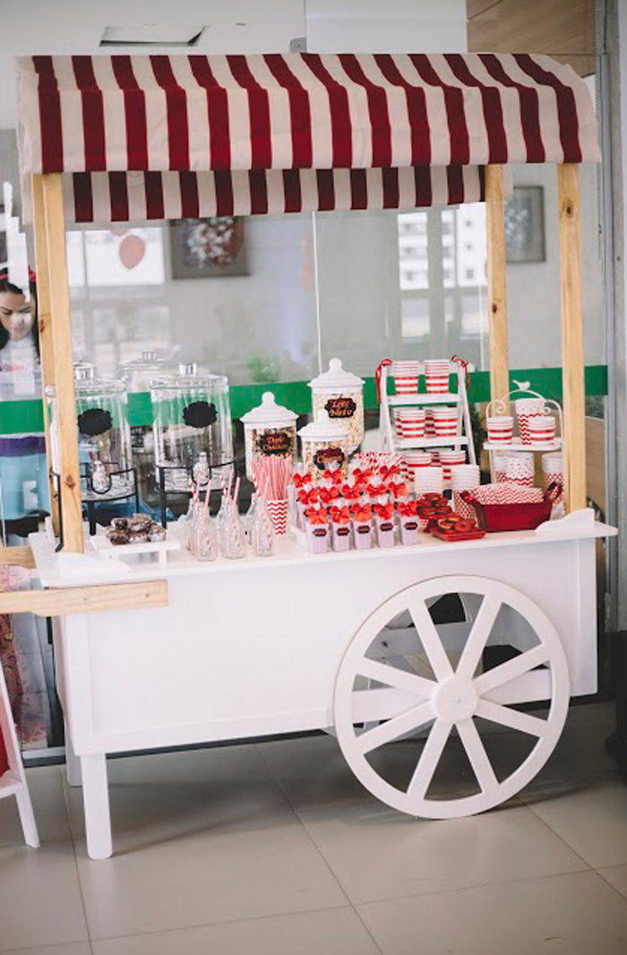 "Beverage Cart from ABC's ""Once Upon a Time"" Inspired Birthday Party on Kara's Party Ideas 