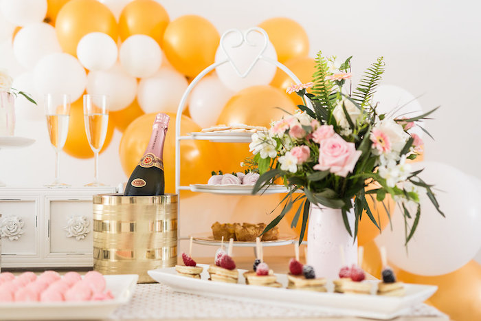 Kara\'s Party Ideas Champagne Brunch Bridal Shower | Kara\'s Party Ideas