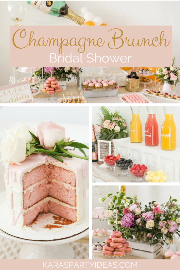 Champagne Brunch Bridal Shower via Kara's Party Ideas - KarasPartyIdeas.com