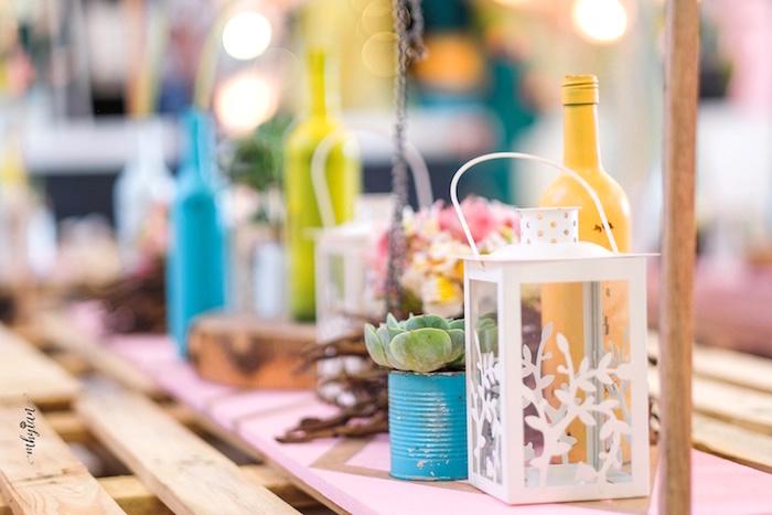 Guest Table Decor from a Coachella Inspired Boho Birthday Party on Kara's Party Ideas | KarasPartyIdeas.com (32)