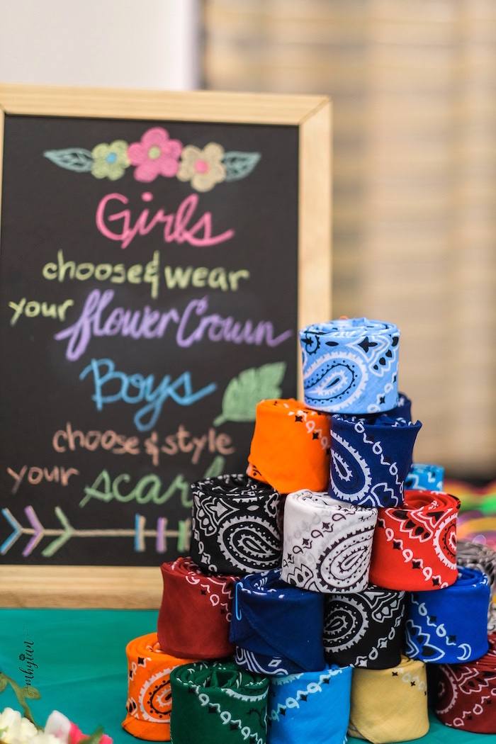 Bandanas/Scarves for the Boys from a Coachella Inspired Boho Birthday Party on Kara's Party Ideas | KarasPartyIdeas.com (29)