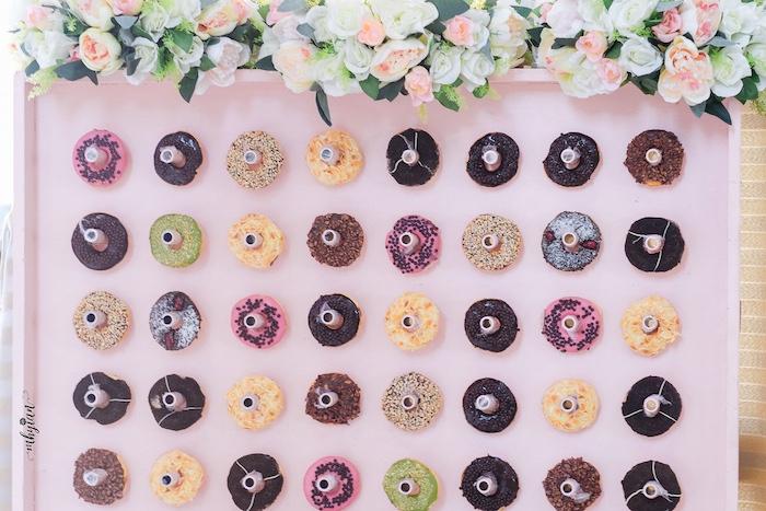 Donut Board from a Coachella Inspired Boho Birthday Party on Kara's Party Ideas | KarasPartyIdeas.com (22)