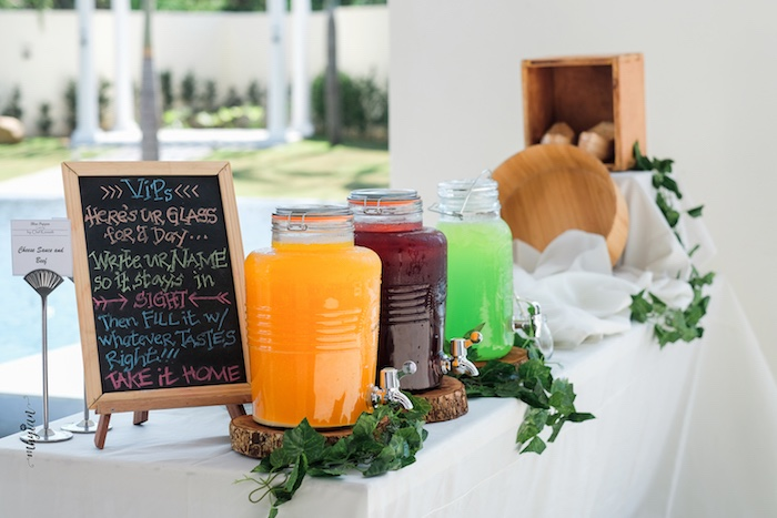Beverage Table from a Coachella Inspired Boho Birthday Party on Kara's Party Ideas | KarasPartyIdeas.com (21)