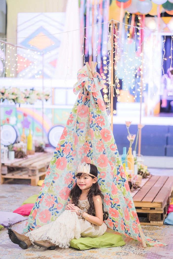 Coachella Inspired Boho Birthday Party on Kara's Party Ideas | KarasPartyIdeas.com (20)